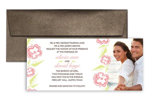 Photo Template Microsoft Word Wedding Invitation 9x4 In Horizontal